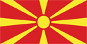 Macedonia Flag Medium