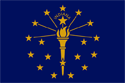 Indiana Flag Medium