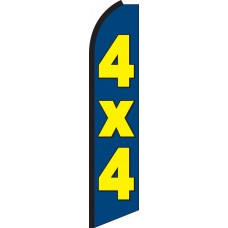 4x4 Swooper Feather Flag