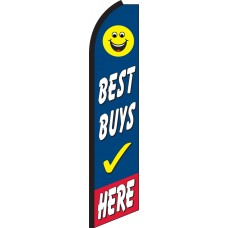 Best Buys Here Swooper Feather Flag