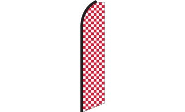 Checkered Red/White Swooper Feather Flag