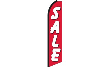 Sale (Red & White) Swooper Feather Flag