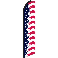 Star Spangled Banner Swooper Feather Flag