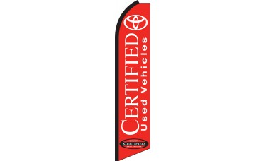 Toyota Certified (Red Background) Swooper Feather Flag