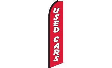 Used Cars (Red & White) Swooper Feather Flag