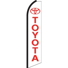 Toyota White/Red Swooper Feather Flag