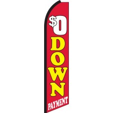 $0 Down Payment Swooper Feather Flag