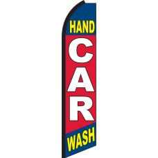 Hand Car Wash Swooper Feather Flag