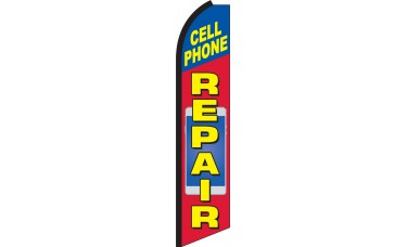 Cell Phone Repair Swooper Feather Flag