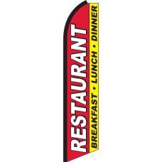Restaurant - Breakfast, Lunch, Dinner Swooper Feather Flag