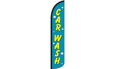 Car Wash Wind-Free Feather Flag