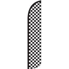 Checkered Black/White Wind-Free Feather Flag