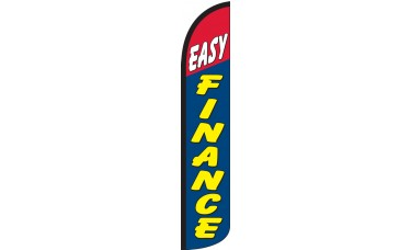 Easy Finance Wind-Free Feather Flag
