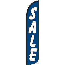 Sale (Blue & White) Wind-Free Feather Flag