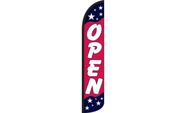 Open Americana Wind-Free Feather Flag