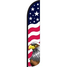 Stars & Bars Eagle Wind-Free Feather Flag