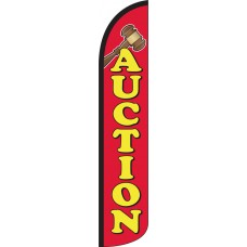 Auction Wind-Free Feather Flag
