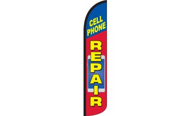 Cell Phone Repair Wind-Free Feather Flag