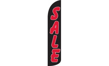 Sale (Black & Red) Wind-Free Feather Flag