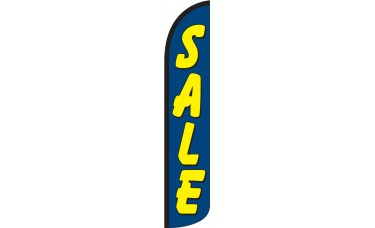 Sale (Blue & Yellow) Wind-Free Feather Flag