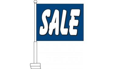 Sale (Blue & White) Car Flag