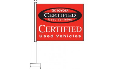Toyota Certified Used Vehicles Car Flag