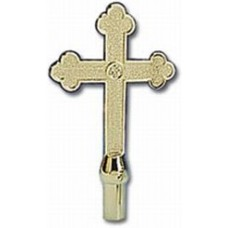 ABS Gold Church Cross Indoor Flagpole Ornament