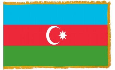 Azerbaijan Flag Indoor Nylon