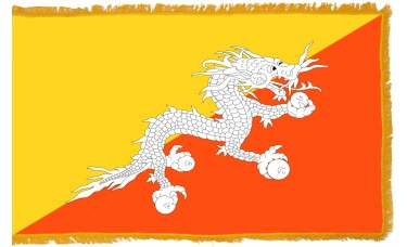 Bhutan Flag Indoor Nylon