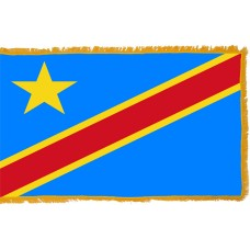 Congo Democratic Republic Flag Indoor Nylon