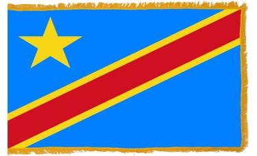 Congo Democratic Republic Flag Indoor Nylon