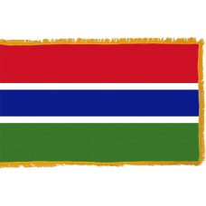 Gambia Flag Indoor Nylon