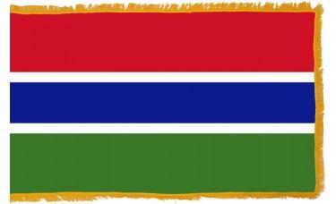 Gambia Flag Indoor Nylon