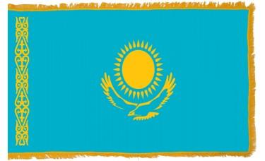 Kazakhstan Flag Indoor Nylon