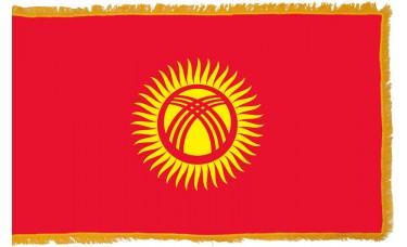Kyrgyzstan Flag Indoor Nylon