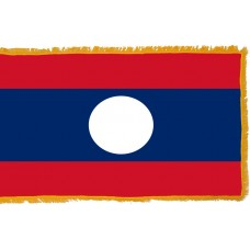 Laos Flag Indoor Nylon