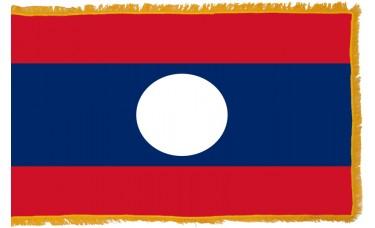 Laos Flag Indoor Nylon