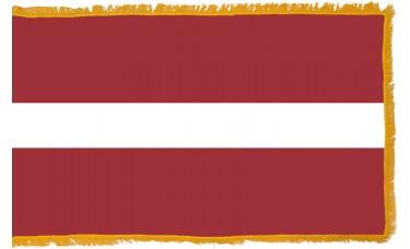 Latvia Flag Indoor Nylon