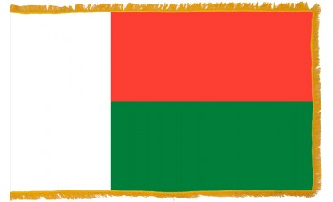 Madagascar Flag Indoor Nylon