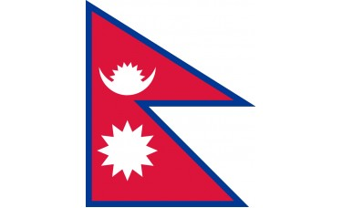 Nepal Flag Indoor Nylon