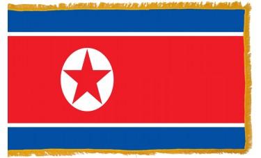 North Korea Flag Indoor Nylon