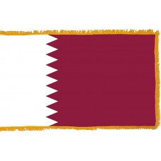 Qatar Flag Indoor Nylon