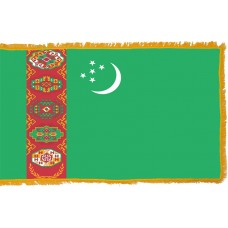 Turkmenistan Flag Indoor Nylon
