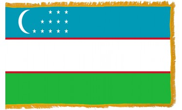 Uzbekistan Flag Indoor Nylon