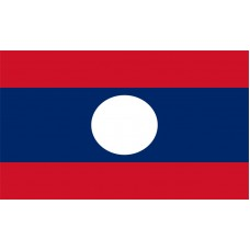 Laos Flag Outdoor Nylon