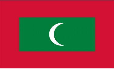 Maldives Flag Outdoor Nylon
