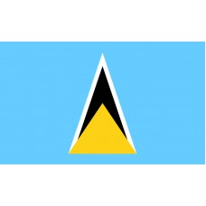 St. Lucia Flag Outdoor Nylon