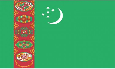 Turkmenistan Flag Outdoor Nylon