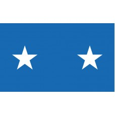 2 Star Air Force Major General Outdoor Flag