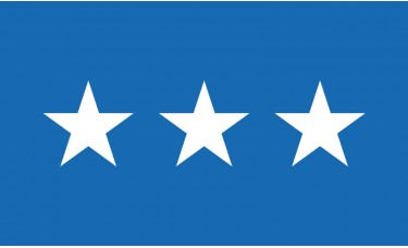 3 Star Air Force Lt. General Outdoor Flag